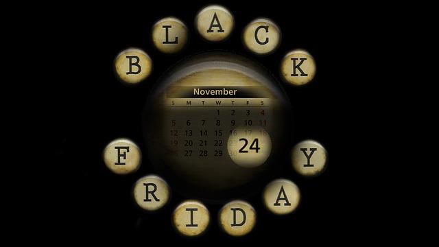 černý pátek v listopadu