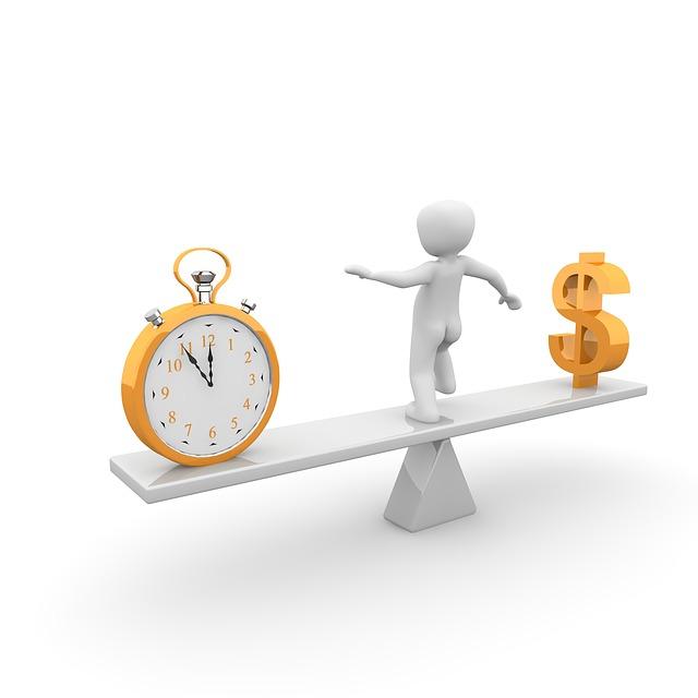 čas a peníze na váze